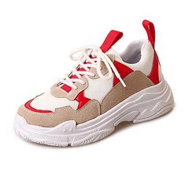 בגדי ריקוד נשים נעליים טול אביב / קיץ נוחות נעלי ספורט מטפסים צהוב / אדום