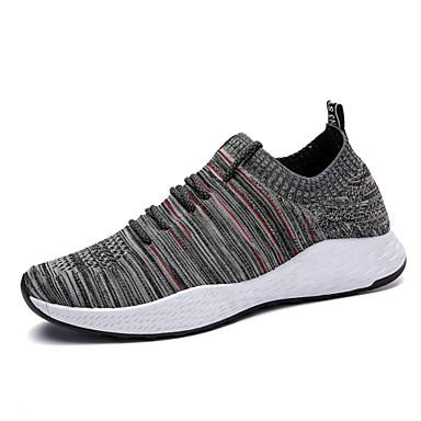 נעליים סריגה אביב קיץ נוחות נעלי ספורט ל קזו'אל בָּחוּץ שחור אפור שחור / כחול