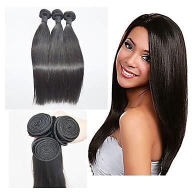 שיער ברזיאלי ישר שיער בתולי טווה שיער אדם שוזרת שיער אנושי תוספות שיער אדם
