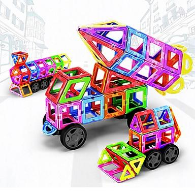 Bloques magnéticos Azulejos magnéticos Bloques de Construcción 198 pcs Vehículos Coche Transformable Chico Chica Juguet Regalo