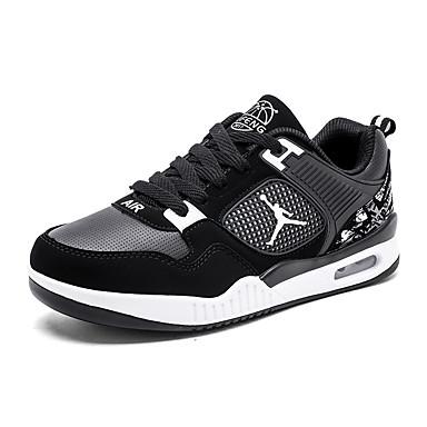Heren Schoenen PU Lente Herfst Comfortabel Sneakers Hardlopen voor Sportief ulko- Zwart Zwart/Rood Zwart/Oranje Marine Blauw