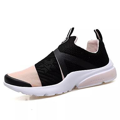נעלי נוחות PU אביב / סתיו נעלי אתלטיקה הליכה שחור לבן / שחור אדום / שחור / כחול