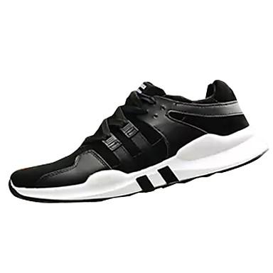 בגדי ריקוד גברים PU אביב / סתיו נוחות נעלי אתלטיקה לבן / שחור / שחור לבן / ריצה