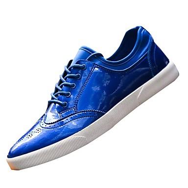 נעליים מיקרופייבר PU סינתטי אביב סתיו נוחות נעלי ספורט ל קזו'אל שחור אפור כחול
