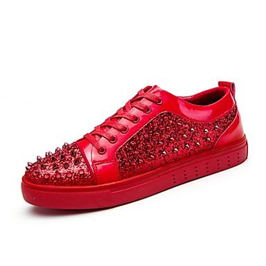בגדי ריקוד גברים נעליים PU אביב / סתיו נוחות נעלי ספורט שחור / אדום