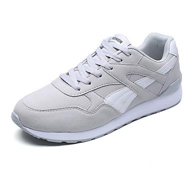 נעליים סוויד אביב סתיו נוחות נעלי אתלטיקה ל אתלטי קזו'אל כחול כהה אפור שחור לבן