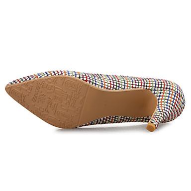 Eté synthétique à Bout 06534164 Aiguille Chaussures PU Chaussures Noir Printemps Talons Femme Beige Confort microfibre de Talon pointu zOIqYwnT7