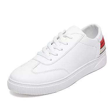 בגדי ריקוד גברים נעליים PU אביב / סתיו נוחות נעלי ספורט שחור / אדום / לבן וירוק