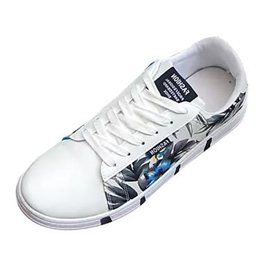 בגדי ריקוד גברים PU אביב / סתיו נוחות נעלי ספורט אפור / כחול