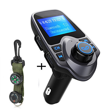 Original T11 Bluetooth Car Kit Handfree FM Transmitter MP3 Music Player Dual USB Car Charger Support TF Card U Disk Play