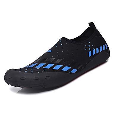 בגדי ריקוד גברים PU אביב / סתיו נוחות נעלי אתלטיקה לבן / שחור / כחול