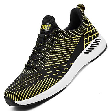 נעליים סריגה אביב קיץ נוחות נעלי ספורט ל קזו'אל בָּחוּץ שחור שחור אדום שחור / כחול שחור וצהוב