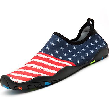 יוניסקס נעליים בד פוליאמיד אביב / קיץ נוחות נעלי אתלטיקה / נעליים ללא שרוכים נעלי מים שטוח אפור כהה / אדום / כחול / צבע הסוואה