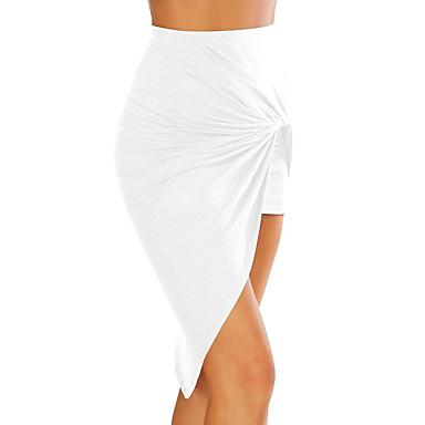 אחיד - חצאיות גזרת A מתוחכם בגדי ריקוד נשים / א-סימטרי / קיץ