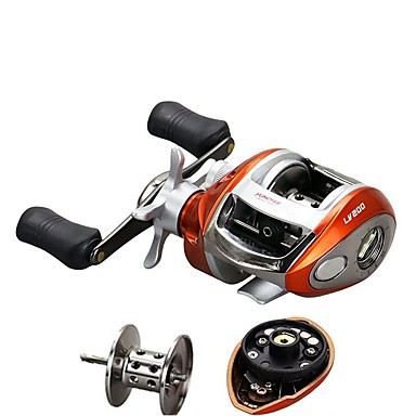 cheap Fishing Reels-Fishing Reel Bearing Baitcast Reels 6 2 1 12 Ball Bearings Right Handed Left Handed General Fishing Lv200