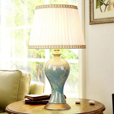 מסורתי / קלסי דקורטיבי מנורת שולחן עבור חדר אוכל קרמיקה לבן