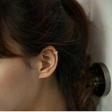 baratos Bijuteria de Mulher-Mulheres Brincos com Clipe Punhos da orelha Dois Tons senhoras Fashion Brincos Jóias Dourado / Prata Para Diário