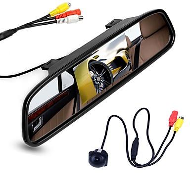 voordelige Automatisch Electronica-ziqiao 4.3 inch digitale tft lcd-spiegelmonitor en auto achteruitrijcamera kleuren nachtzicht