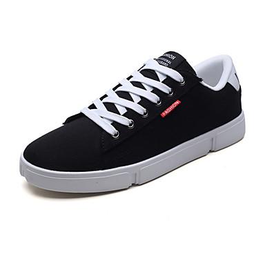בגדי ריקוד גברים רשת אביב / סתיו נוחות נעלי ספורט שחור / אפור / שחור לבן