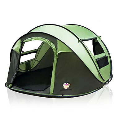 Camping & Hiking Outdoor Camping Gear 70*210cm Polyester Travel Sleeping Bag+automatic Instant Pop Up Hiking Tent 240 *180*100cm For 3-4 Persons Moderate Price