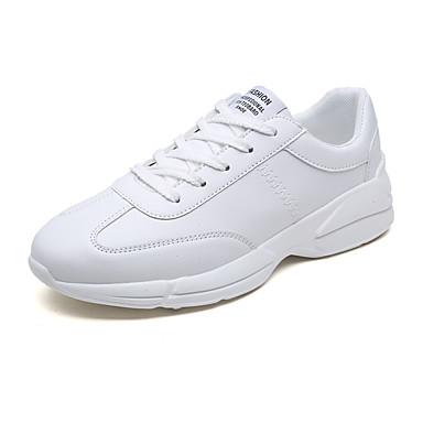 בגדי ריקוד גברים PU אביב / סתיו נוחות נעלי אתלטיקה הליכה לבן / שחור / אדום