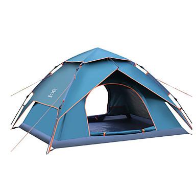 Sheng yuan 4 osoby Namioty turystyczne Podwójna warstwa Automatyczny Kopułkowa Namiot kempingowy Na wolnym powietrzu Wodoodporny, Wspinaczka, Ochrona przed słońcem na Camping & Turystyka / Obóz