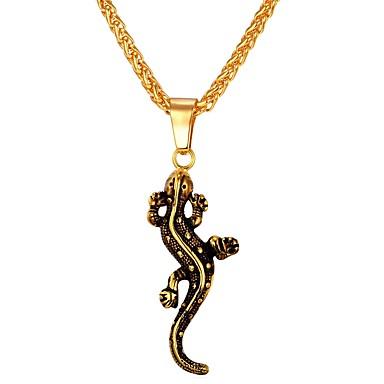 בגדי ריקוד גברים שרשראות תליון - פלדת על חלד חיה זהב, כסף שרשראות 1 עבור יומי, רחוב