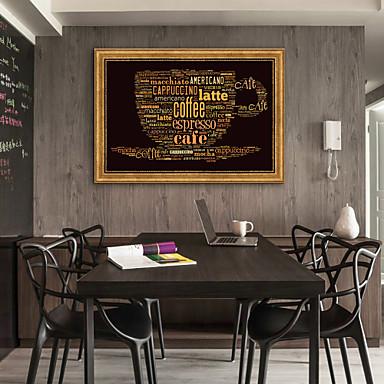 מופשט אוכל איור וול ארט,פלסטיק חוֹמֶר עם מסגרת For קישוט הבית אמנות מסגרת סלון