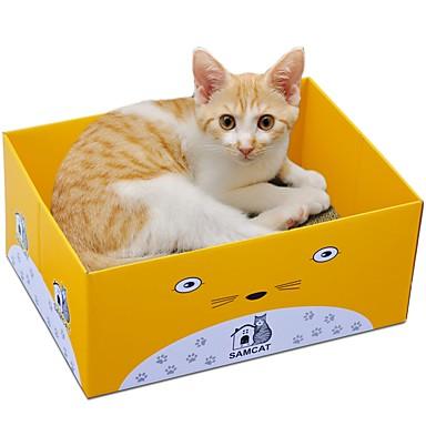 חתולים / חתול מיטות / אומנות גירוד / נייר ויצירה בנייר חיות מחמד ליינרים אחיד / נמר מאמן / מקל מתחים / קיפול כחול כהה / סגול / צהוב עבור חיות מחמד