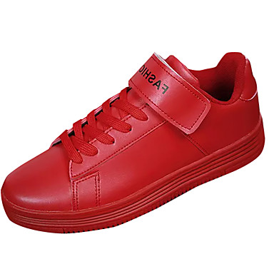 בגדי ריקוד גברים PU אביב / סתיו נוחות נעלי ספורט לבן / שחור / אדום