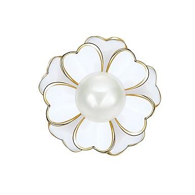 בגדי ריקוד נשים תפס לשיער - דמוי פנינה פרח אופנתי סִכָּה לבן עבור Party / מועדונים