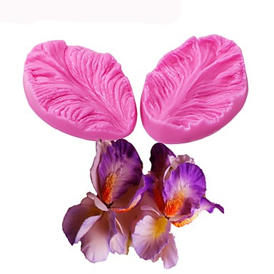 עובש סיליקון עובש 3D פרח בישול חתונה קישוט אפייה סוכר מלאכה moulds 2pcs משאיר עוגה דיימו פימו