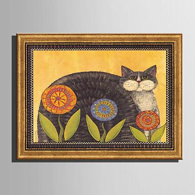 חיות פרחוני/בוטני איור וול ארט,פלסטיק חוֹמֶר עם מסגרת For קישוט הבית אמנות מסגרת סלון