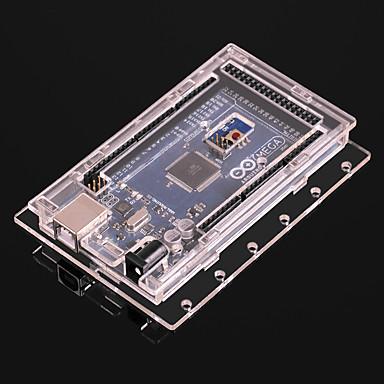 עבור arduino mega2560 r3 פיתוח לוח שקוף אקריליק פגז הגנה תיבת no. 101 אנטי סטטי