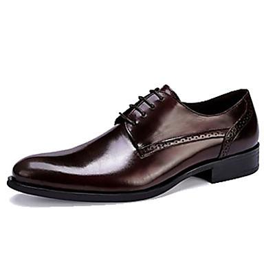 בגדי ריקוד גברים נעליים פורמליות עור אביב / סתיו עסקים נעלי אוקספורד שחור / בורדו / מסיבה וערב / לבש נעליים