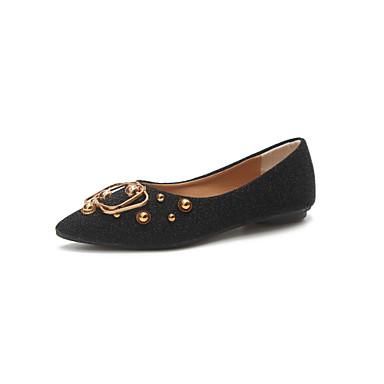 Naisten Kengät Kumi Kesä Comfort Sandaalit Kävely Block Heel Soljilla varten ulko- Musta Harmaa Tumman ruskea