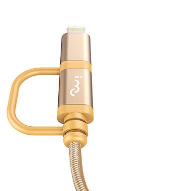 תאורה מתאם כבל USB קלוע / תשלום מהיר כבל עבור iPhone 100 cm עבור ניילון
