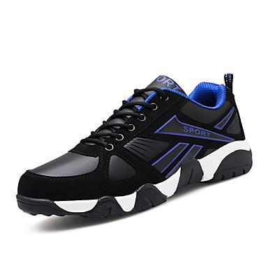 Herrn Schuhe Tüll Frühling Herbst Komfort Sneakers Schnürsenkel für Normal Rot Blau Schwarz/Rot Schwarz/weiss