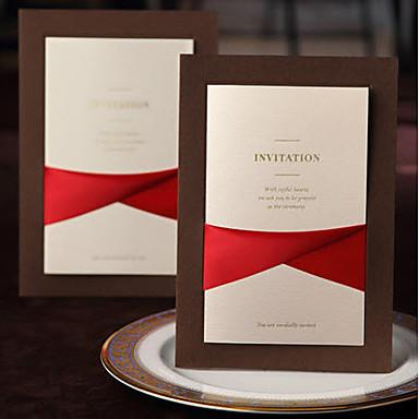 הזמנות ומעטפות הזמנות לחתונה 20 - כרטיסי הזמנה סגנון קלאסי נייר עם תבליטים מובלט