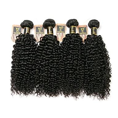 저렴한 가발 & 헤어 연장-4 묶음 브라질리언 헤어 Kinky Curly 8A 인모 인간의 머리 직조 인간의 머리 되죠 인간의 머리카락 확장 / 킨키 곱슬
