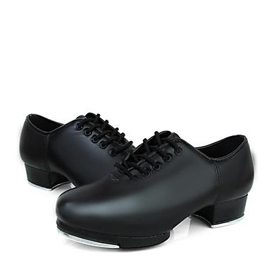 Femme Chaussures de Claquettes Similicuir Basket Talon Bas Bas Bas Personnalisables Chaussures de danse Noir 408028