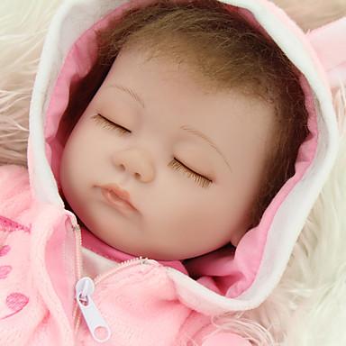NPKCOLLECTION NPK DOLL Lalki Reborn Dziewczyna Lalki Dziewczynki 18 in Silikon Winyl - Jak żywy Śłodkie Wyrób ręczny Bezpieczne dla dziecka Nietoksyczne Słodkie Dzieciak Dla dziewczynek Zabawki