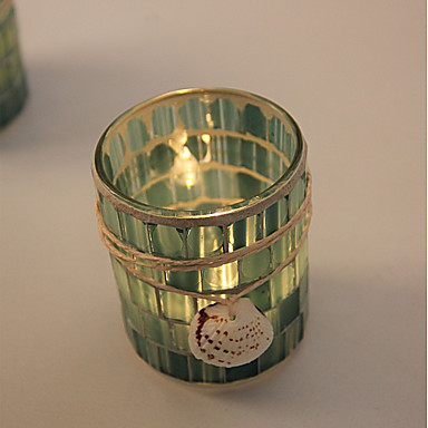 סגנון מינימליסטי / מודרני / עכשווי זכוכית פמוטים 1pc, מחזיק נר / נרות