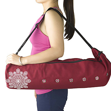 22 L Yoga Mat Bag - Leisure Sports, Fitness Large Capacity, Waterproof, Breathable Canvas Gray, Purple, Red