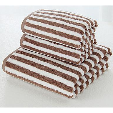 איכות מעולה מגבת אמבטיה, פסים פולי / כותנה חדר אמבטיה 3 pcs