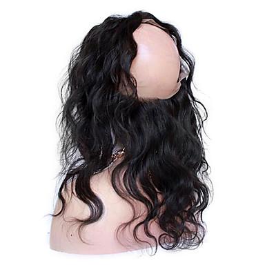 CARA 360 frontal Onda de Corpo Parte gratuito / Parte Médio / Parte 3 Tela Francesa Cabelo Virgem Mulheres Com Baby Hair Diário