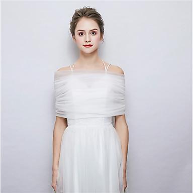 ללא שרוולים טול חתונה / מסיבה\אירוע ערב כיסויי גוף לנשים עם עניבת פרפר גלימות