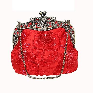 b403ab3f82 Γυναικεία Τσάντες Πολυεστέρας Βραδινή τσάντα Χάντρες   Κέντημα Κεντήματα  Βυσσινί   Καφέ   Χακί