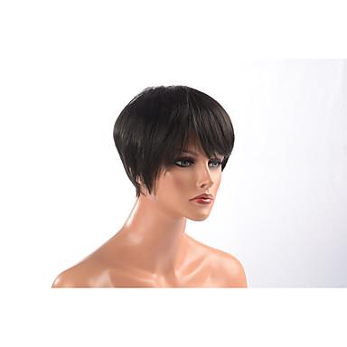 פאות סינתטיות מתולתל תספורת שכבות שיער סינטטי שיער טבעי שחור פאה Report 12 ללא מכסה