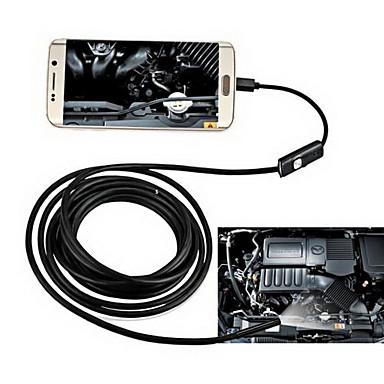 voordelige Microscopen & Endoscopen-2in1 android&Pc 8.0mm lens hd endoscoop 2.0 mega pixels 6 led ip67 waterdicht inspectie borescope 2m lang flexibel koord